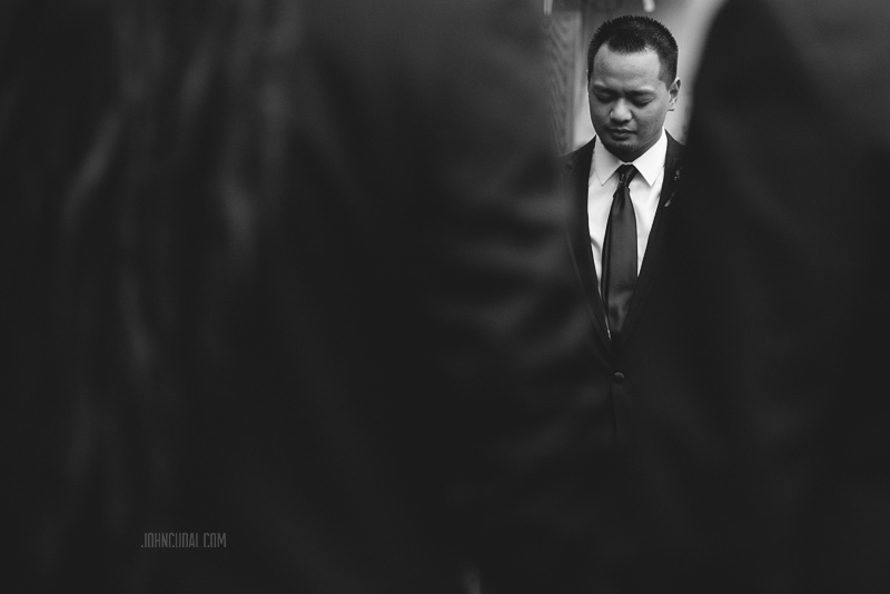 groom praying, cerritos wedding photography